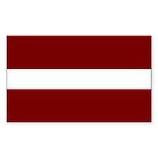 Latvia Rectangle Decal