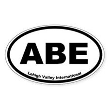 Lehigh Valley International Airport Oval Decal