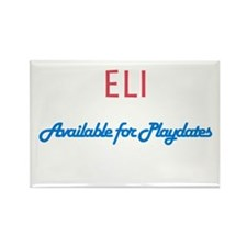 Eli - Available for Playdates Rectangle Magnet (10