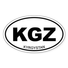 Kyrgystan Oval Decal