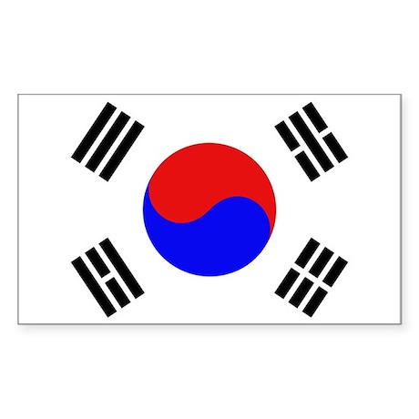 Korea Rectangle Sticker