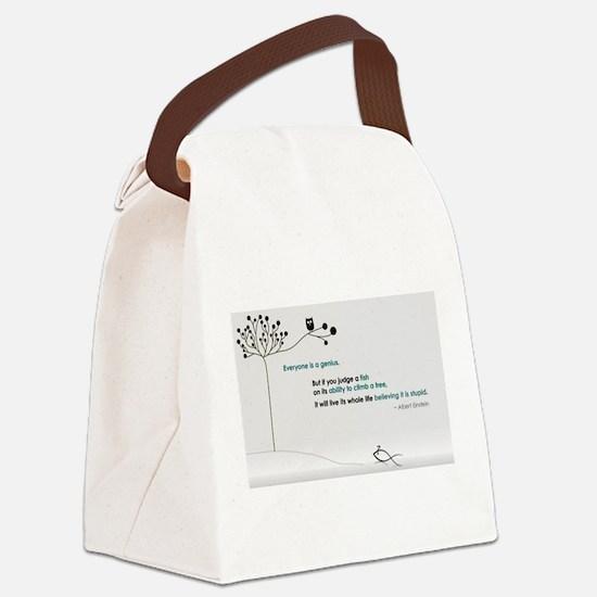 Einstein Canvas Lunch Bag