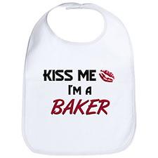 Kiss Me I'm a BAKER Bib