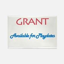 Grant - Available for Playdat Rectangle Magnet (10