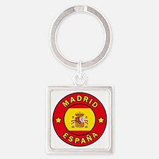 Cute Spain Square Keychain