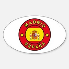 Funny Madrid Sticker (Oval)