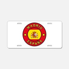 Madrid España Aluminum License Plate