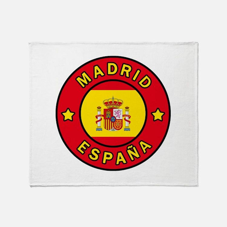 Madrid España Throw Blanket