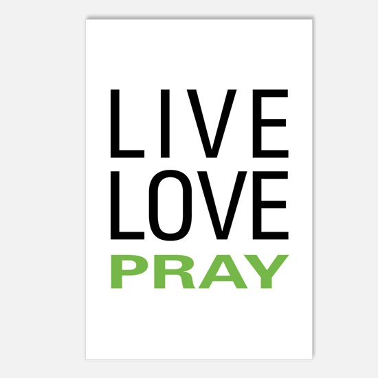 Live Love Pray Postcards (Package of 8)