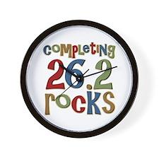 Completing 26.2 Rocks Marathon Run Wall Clock