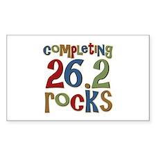 Completing 26.2 Rocks Marathon Run Decal