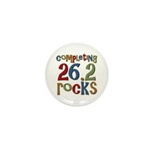 Completing 26.2 Rocks Marathon Run Mini Button (10