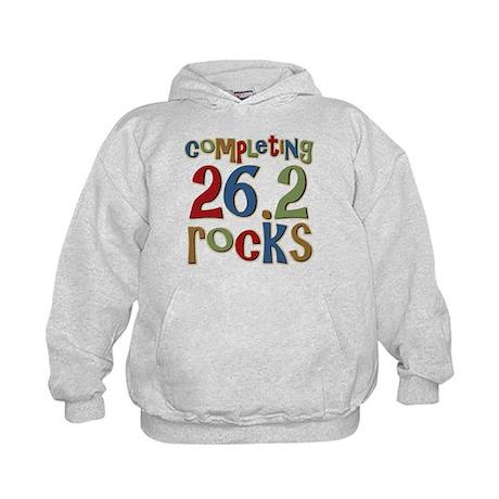 Completing 26.2 Rocks Marathon Run Kids Hoodie