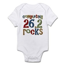 Completing 26.2 Rocks Marathon Run Infant Bodysuit