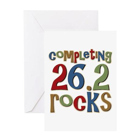 Completing 26.2 Rocks Marathon Run Greeting Card