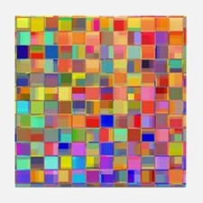 Color Mosaic Tile Coaster