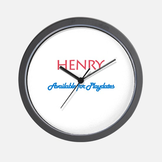 Henry - Available for Playdat Wall Clock