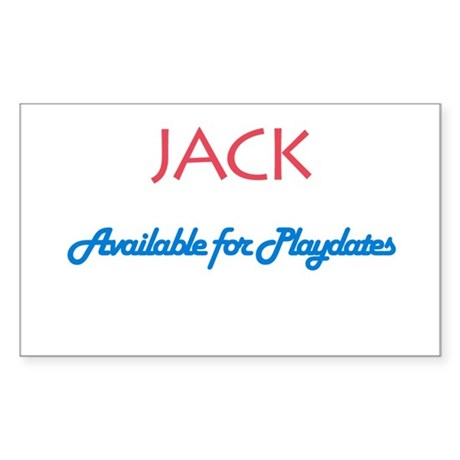 Jack - Available for Playdate Sticker (Rectangular