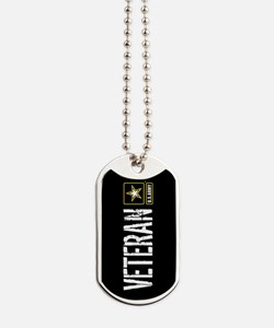 U.S. Army: Veteran (Black) Dog Tags