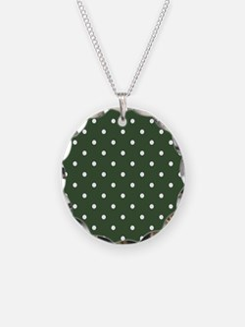 Polka Dots Pattern: Pine Gre Necklace