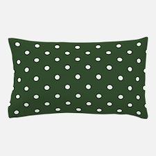 Polka Dots Pattern: Pine Green Pillow Case