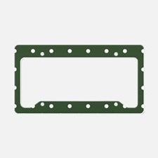 Polka Dots Pattern: Pine Gree License Plate Holder