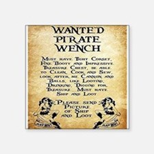 Pirate Wench Wanted Sticker
