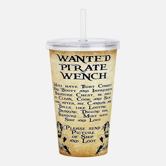 Pirate Wench Wanted Acrylic Double-wall Tumbler