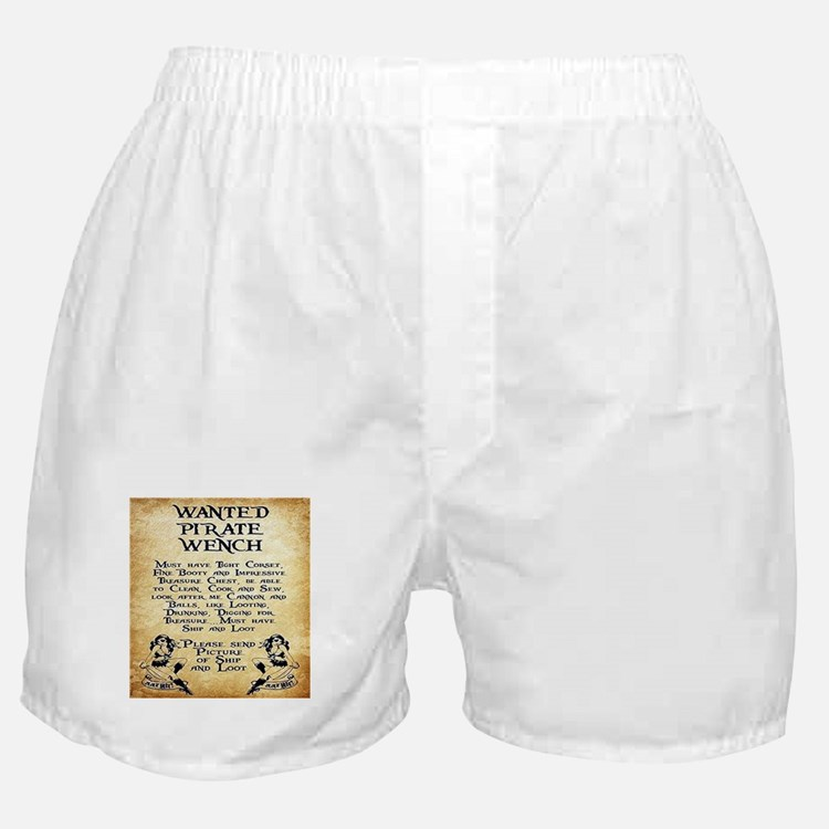 Pirate Wench Wanted Boxer Shorts