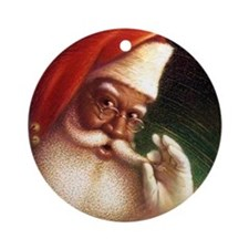 Funny African christmas Ornament (Round)