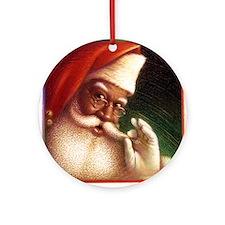 Cute African american santa Ornament (Round)