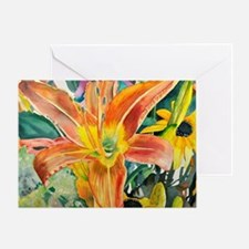 Cute Tiger lily Greeting Card
