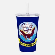 US Navy Flag Acrylic Double-wall Tumbler