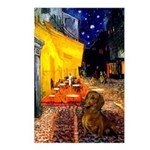 Cafe /Dachshund Postcards (Package of 8)