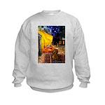 Cafe /Dachshund Kids Sweatshirt
