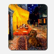 Cafe /Dachshund Mousepad