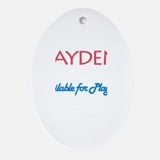 Jayden - Available for Playda Oval Ornament