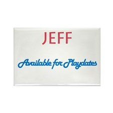 Jeff - Available for Playdate Rectangle Magnet (10