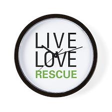 Live Love Rescue Wall Clock