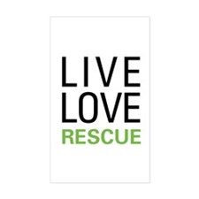 Live Love Rescue Rectangle Decal