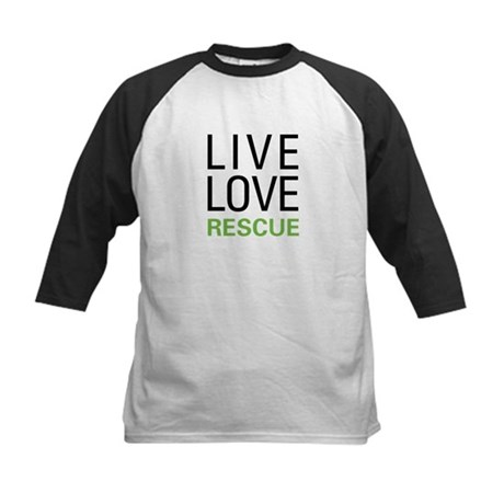 Live Love Rescue Kids Baseball Jersey