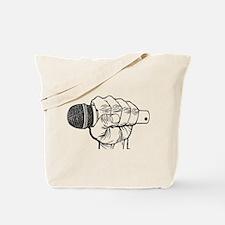 Microphone Fist Tote Bag