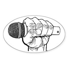 Microphone Fist Oval Decal