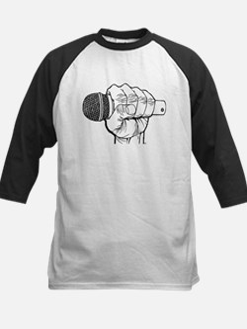 Microphone Fist Kids Baseball Jersey