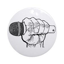 Microphone Fist Ornament (Round)