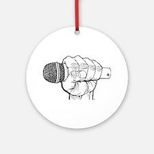 Microphone Fist Ornament (Round)