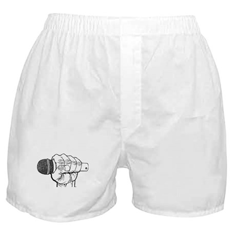 Microphone Fist Boxer Shorts