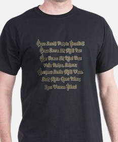 StBenedictMedal_Latin_only T-Shirt