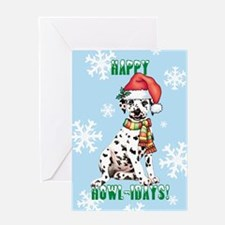 Holiday Dalmatian Greeting Card