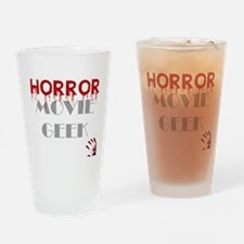 Horror Movie Geek Drinking Glass